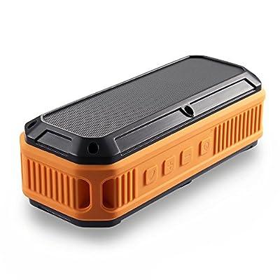 Outdoor Splashproof Bluetooth NFC Speaker,SOLEMEMO SE90 Rugged Shockproof Dustproof Portable Wireless Speaker,Rich Immersive Sound for Outdoor Sport and Shower & bath