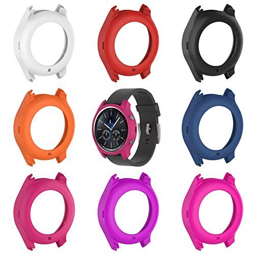 Luerme 3PCS Watch Screen Protector SiliconeWatch Protective Case Cover Full Coverage Screen Guard Bumper Protective Shell ForSamsungGalaxyGearS3