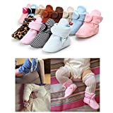 Save Beautiful Newborn Infant Slippers Warm Fleece Boots With Bottom First Walkers Shoes