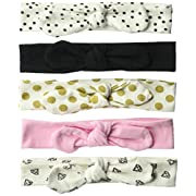 Hudson Baby Baby Headband, 5 Pack, gold dot, 0-24 Months