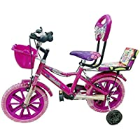 Global Bikes Barbie 16T (Pink) Kids Bicycle for 5 to 8 Year Fully Adjustable with Back Support for Boys and Girls (16T,Pink)