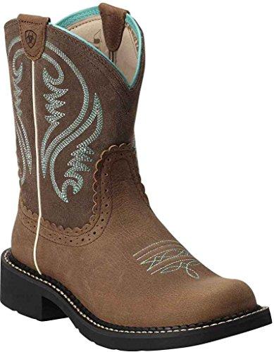 Ariat Women Women's Fatbaby Collection Western Cowboy Boot Tan Rowdy