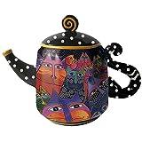 Westland Giftware Ceramic Teapot, Fantasticats, 48 oz, Multicolor