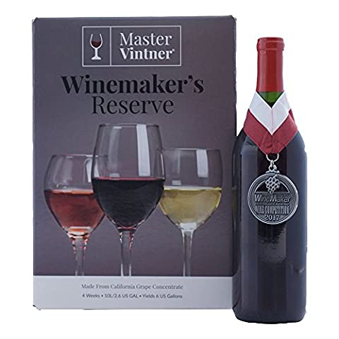 Pinot Noir Kit - Master Vintner Winemaker's Reserve Wine Making Recipe Kits - Ingredients for making 6 gallons of Homemade - Reserve Merlot Red Wine