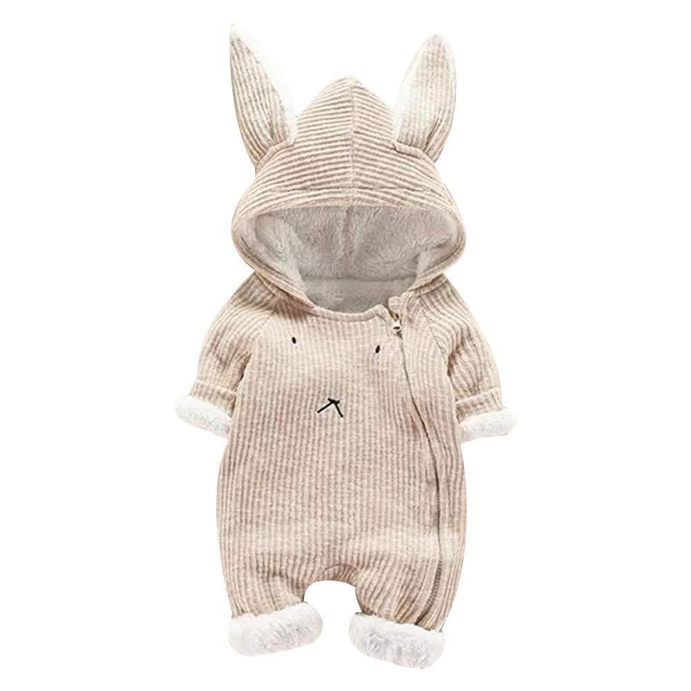 Amazon.com: Franterd 3D Ear Romper Baby Girls Boys Rabbit Plush Onesie Hoodie Rompers Knit Sweater Jumpsuit Snowsuit Winter Coat: Clothing