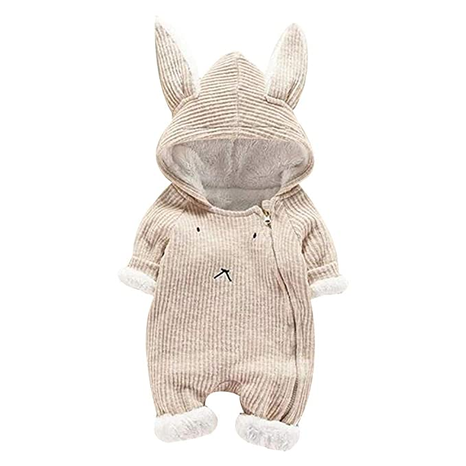 Amazon.com: NUWFOR Newborn Infant Baby Boy Girl Cartoon Hooded 3D Ear Romper Jumpsuit Clothes: Clothing