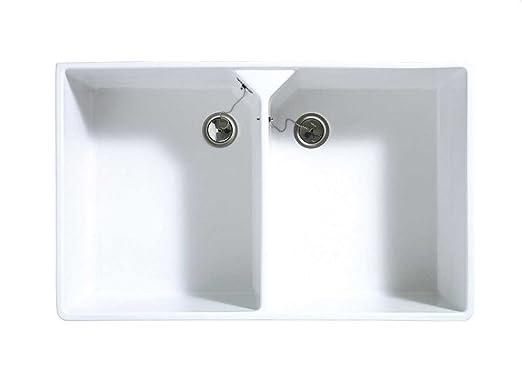 Astracast Sudbury 2.0 Weiß Hochglanz Keramik-Spüle Aufsatzspüle ...