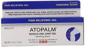 Atopalm Muscle and Joint Gel, 4.0 Ounce