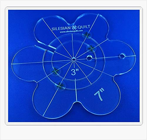 Template for Quilting Daisy 7 inches 3 pcs Silesian Quilt