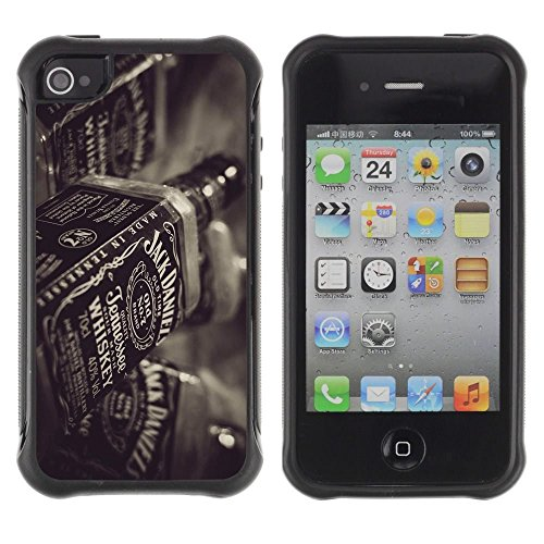 iPhone 4 / iPhone 4S , Whiskey Bottle Bar Drinking Party Alcohol Art