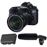 Canon EOS-6D Digital SLR Camera Kit with EF 24-105mm F3.5-5.6 IS STM Lens - Bundle With Canon LP-E6 N Lithium-Ion Battery Pack, Tascam DR-10SG Camera-Mountable Audio Recorder with Shotgun Microphone