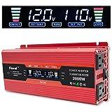 Cantonape 1000W/2000W(Peak) DC 12V to 110V AC Power Inverter Converter with 2A USB
