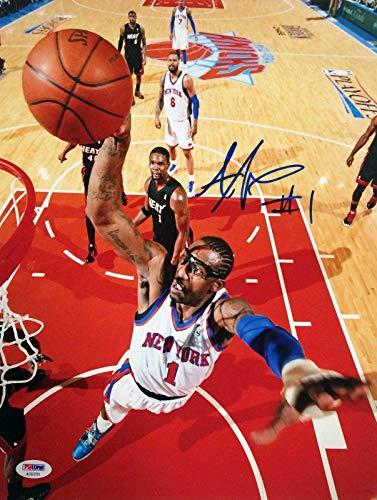 Signed Amar'e Stoudemire Photograph - Amare 11x14 Cert # AC 63791 - PSA/DNA Certified - Autographed NBA Photos