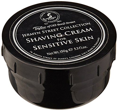 Taylor of Old Bond Street Jermyn Street Luxury Shaving Cream for Sensitive Skin, 5.3-Ounce