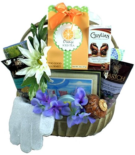 Gift Basket Village Harbor Breeze Spa and Sweets Gift Basket, 7 Pound