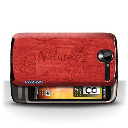 Etui / Coque pour HTC Desire G7 / Rouge conception / Collection de Motif Nature