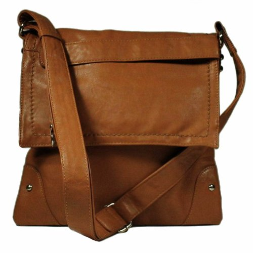 Stitched Flap Cross-body Handbag
