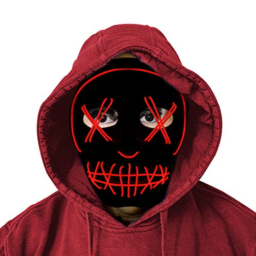 StarQualityBargain Scary Light Up Cosplay Costume Mask for Festival Parties