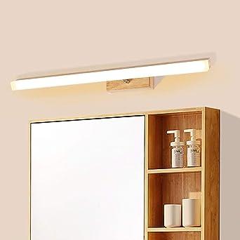Nordic Massivholz Acryl Spiegel vorne Licht LED Badezimmer ...