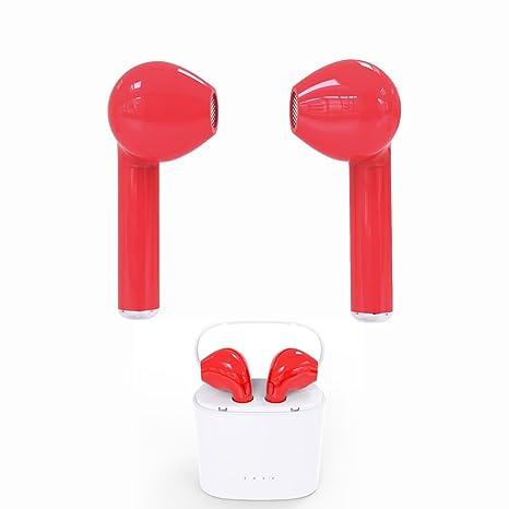 Mini Auriculares Inalámbricos i7 Auriculares Bluetooth Auriculares Estéreo Micrófono de Llamadas Manos Libres con Estuche de