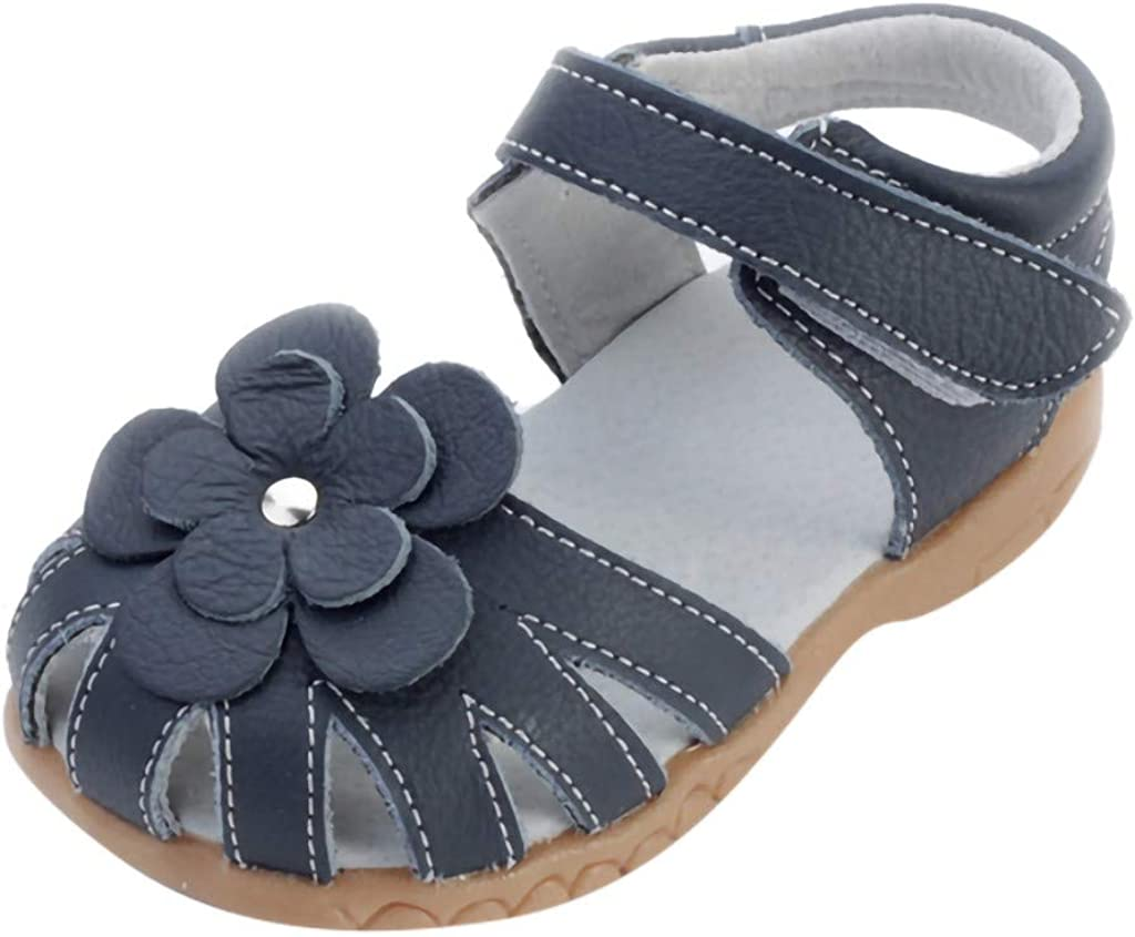 LookGolden Baby Girls Sandals Girls Sandals Princess Flat Shoes Leather Casual Shoes Non-Slip Breathable Sandals