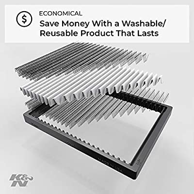 K&N Premium Cabin Air Filter: High Performance, Washable, Lasts for the Life of your Vehicle:  Designed For Select 2011-2020 Jeep Wrangler  Vehicle Models, VF1010: Automotive