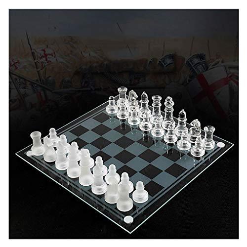 K9 Glass Chess Juego de ajedrez Elegante Embalaje de Lucha Mediana Juego de ajedrez Internacional Juego de ajedrez de…