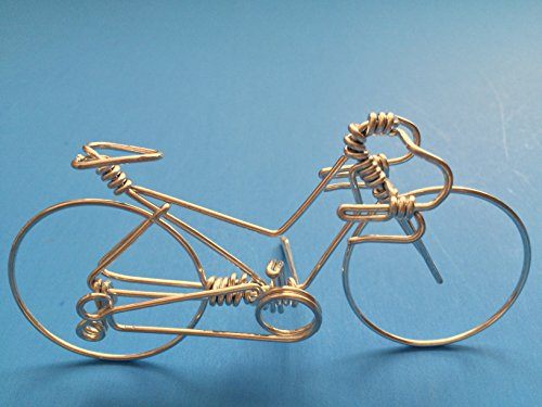 Handcrafted Womens Road Bike Small ~ Unique Biking Gifts for Cyclists as Cake Toppers ~ Handmade with One Whole Aluminum Wire w/ No Single Break