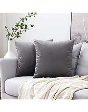 MIULEE Confezione da 2 Federa in Velluto Copricuscino Decorativo Fodera Quadrata per Cuscino per Divano Camera da Letto Casa Auto
