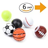 Novelty Golf Balls - Standard 2-layer Construction for golfers of all skill levels - Professional - Funny Practice Golf balls - Prefect Golf Gag Gifts - Kids Novelty Gifts - M&H - Assorted Designs 6 balls