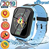 2019 Upgrade Kids Smart Watch Phone GPS Tracker Watch-Waterproof 1.44″ Touch Screen Kids Wristwatch with Anti-Lost SOS Voice Chat Flashlight Learning Games Toy Birthday Gift for 4-12 Years Boys Girls