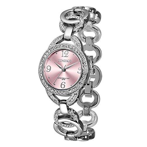 Time100 Women Fashion Diamond Watch Jewelry Strap Bracelet Quartz Lady Watch #W50377L from TIME100