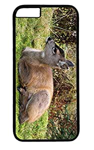 Cute Fawn Deer PC Black Case for Masterpiece Limited Design iphone 6 by Cases & Mousepads