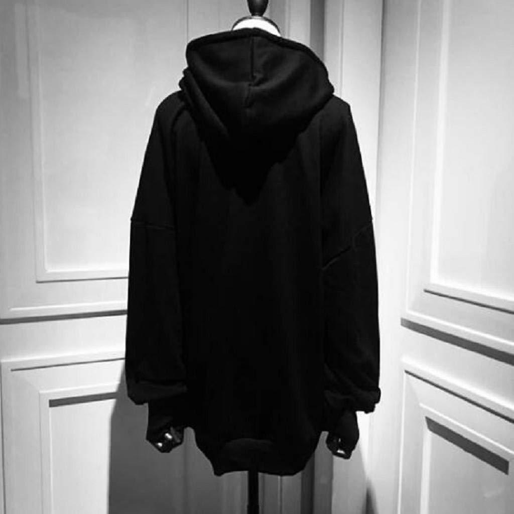 iQKA Womens Teen Girls Cosplay Hoodie Loose Gothic Punk Long Sleeve Hoodie Sweatshirt Print Pullover Tops