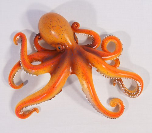 Handpainted Octopus Wall Mount Decor Plaque 8