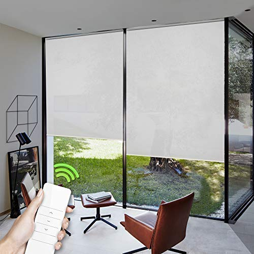 Customized Motorized Window Blinds (Room Divider) with Wireless Rechargeable Remote for for Kitchen or Living Room review