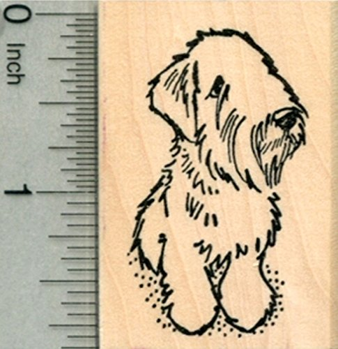 Sealyham Terrier Dog Rubber Stamp