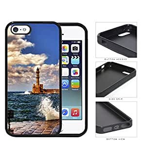 Seaside Lighthouse With Water Splashing View Rubber Silicone TPU Cell Phone Case Apple iPhone 5 5s