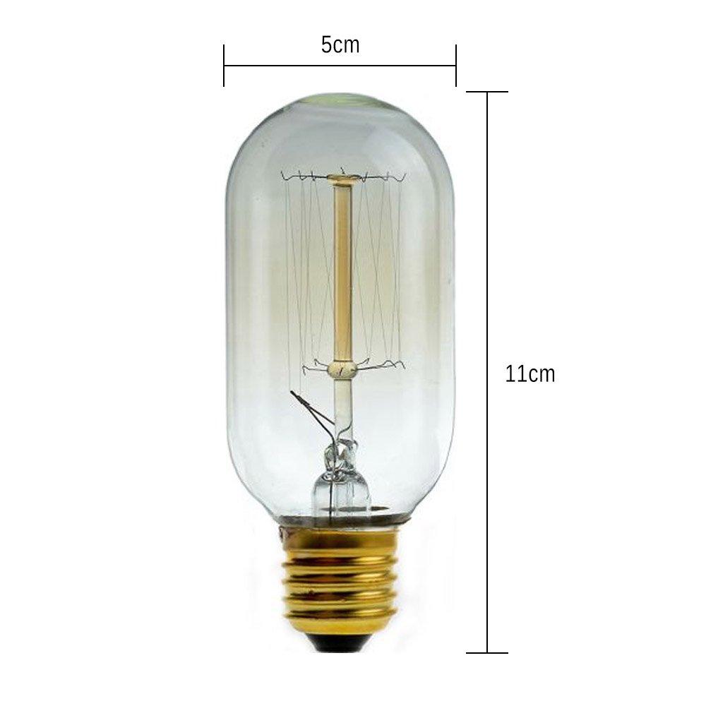 Neverland E27 40W 50V-220V C55 Edison Lampe Filament Gl/ühlampe Retro Licht Vintage Gl/ühbirne Antik Beleuchtung Warmwei/ß