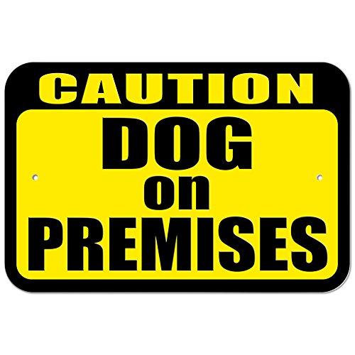 Plastic Sign Caution Dog Premises