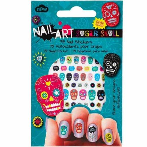 (NPW Sugar Skull Nail Art Stickers)