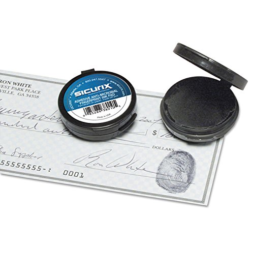 Baumgartens 38010 Fingerprint Ink Pad, 1 1/2-Inch Diameter, Black