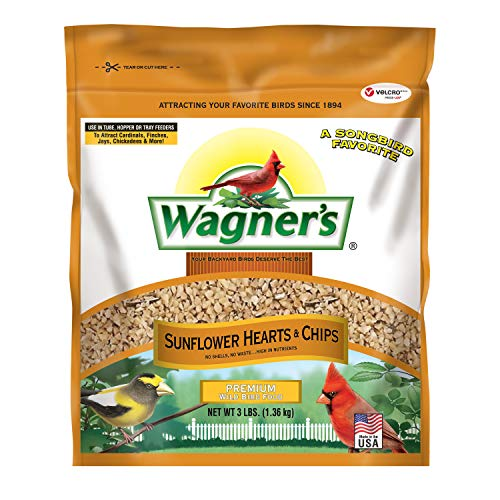 Wagner's 57051 Sunflower Hearts & Chips, 3-Pound Bag