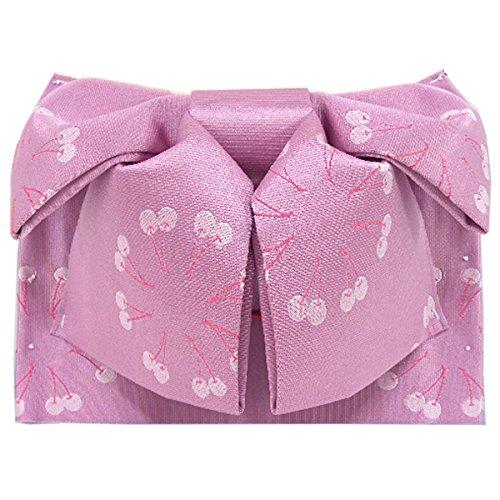 ハロウィン復讐未接続浴衣帯 作り帯 -12- 付け帯 結び帯 女性用 藤ピンク チェリー