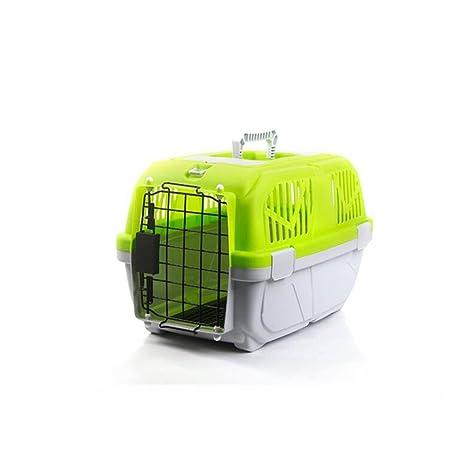 HongXJ Jaula de transporte portátil para mascotas, gatos, cachorros, gatos, jaula de