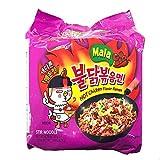 Samyang Mala Buldak Spicy Korean Chicken Ramen Noodle, 4.76 oz(5 count)