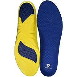 Sof Sole Athlete Full Length Comfort Neutral Arch Comfort Insole, Men's Size 11-12.5
