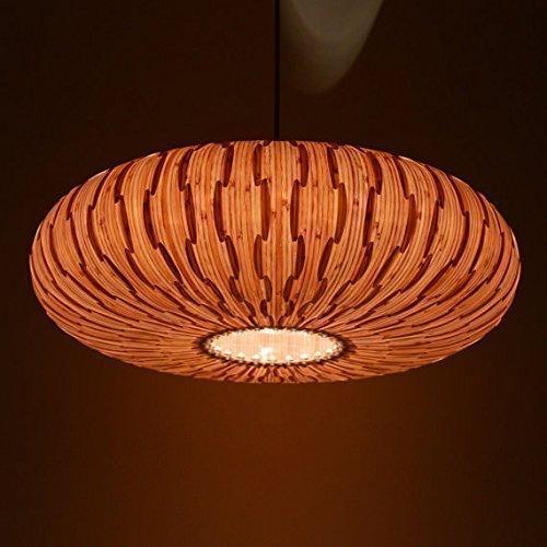 Handmade Umbrella Hanging 3-Light Pendant Lamp, made of natural bamboo veneer, a great lighting for dining room and bedroom, ceiling lamp, pendant lam…