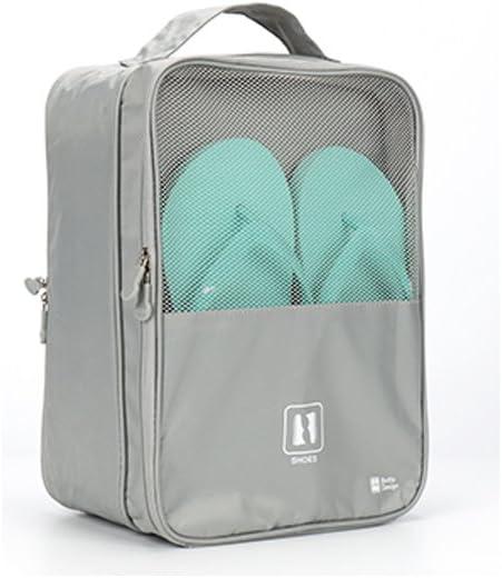 Zapatos de viaje bolsas de almacenamiento bolsas de zapatos zapatillas calzado de la humedad – prueba impermeable bolsas bolsillos gran capacidad para colgar en estuche de viaje 30 cm × 22 cm ×