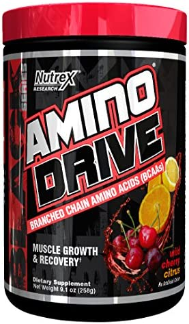 Nutrex Research Amino Drive Supplement, Wild Cherry Citrus, 9.1 Ounce